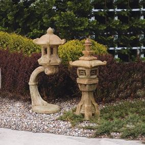 Cantilevered Lantern Cast Stone Garden Ornament