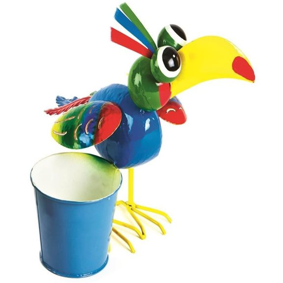 additional image for Colourful Tropical Bird Plant Holder