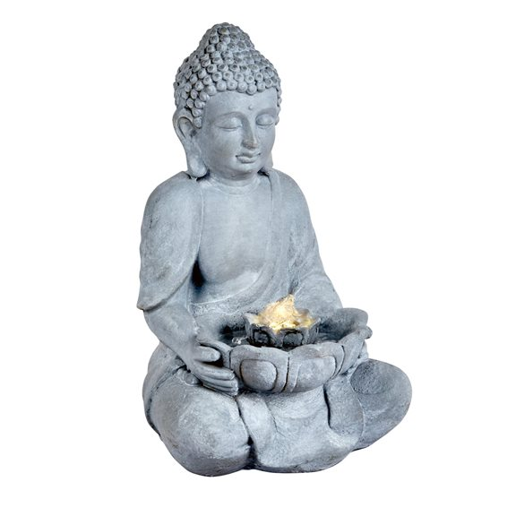 additional image for Oriental Buddha Water Feature with LED Light