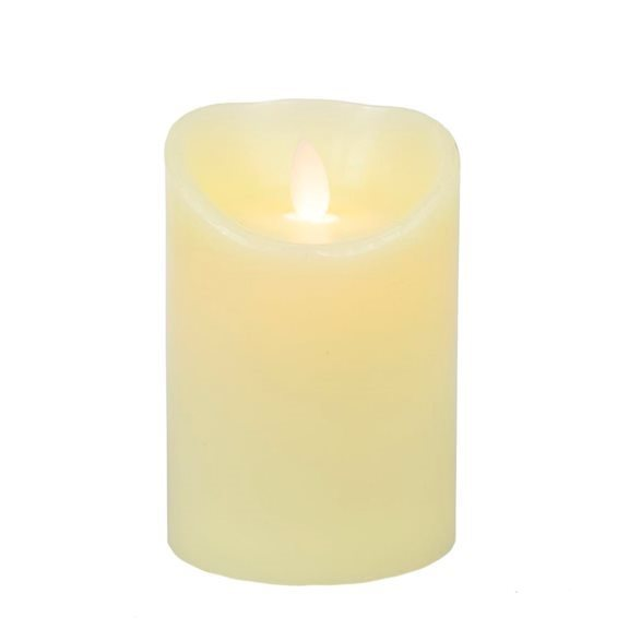additional image for 18cm Cream Dancing Flame Candle