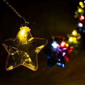 LED Lit Multi Coloured Indoor Star Lights
