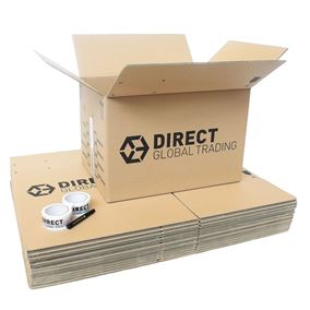 15 Extra Large Cardboard Storage Packing Moving House Boxes with Tape and Pen