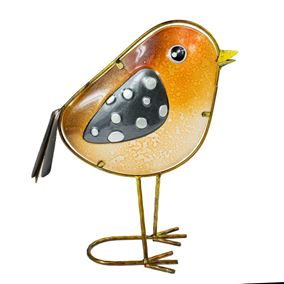 Rosie Robin Glass Decor Garden Ornament