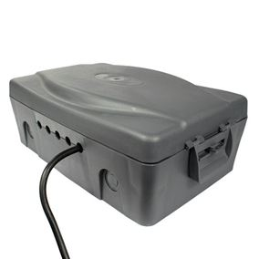 Outdoor Weatherproof Box with Black 4 Way Extension 10m Cable