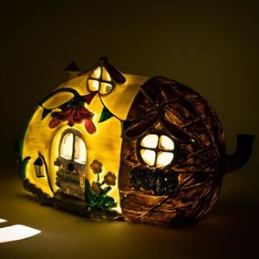 The Willowdale Collection Large Acorn Solar Powered Lit Fairy House