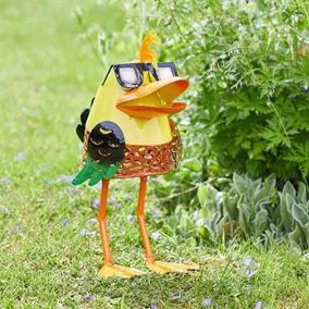 Doctor Duck Solar Powered Metal Silhouette Garden Light