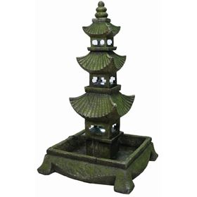 Extra Large Pagoda Water Feature with LED Lights