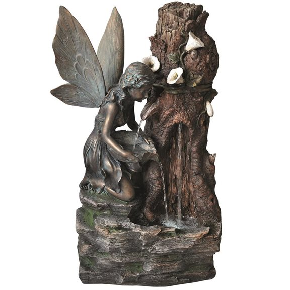 additional image for Spring Water Fairy Water Feature with LED Lights