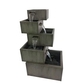 Ferentino Zinc Metal Water Feature