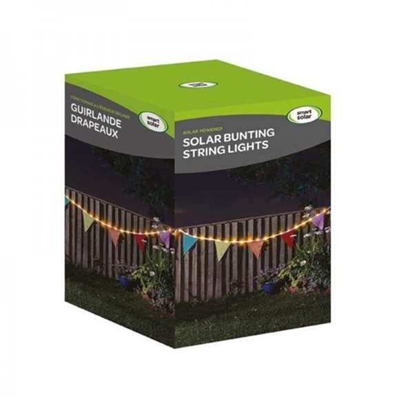 additional image for Solar Powered Bunting String Lights (10 Flags)