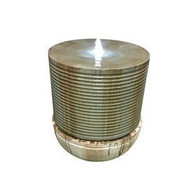 Madison Ribbed Bubbling LED Lit Fountain Water Feature