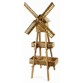 Giant Wooden Windmill Garden Planter