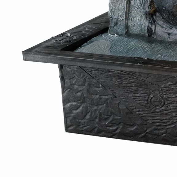 additional image for Grey Buddha Face on Wall Indoor Water Feature