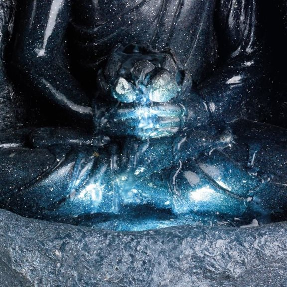 additional image for Grey Buddha in Surround LED Lit Water Feature