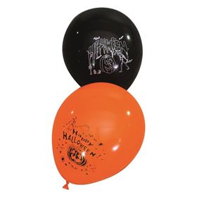 Pack of 24 Black and Orange Balloons Halloween Decoration