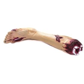 Latex Chopped Off Zombie Halloween Leg with Blood