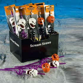 Battery Powered Screaming Halloween Straw