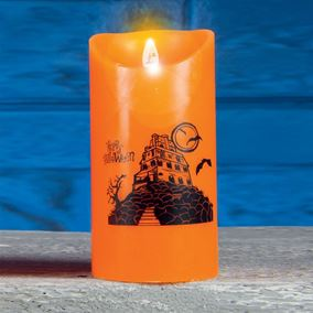 Large Dancing Halloween Flame Candle Haunted House Design