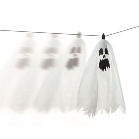 Hanging Flying Halloween Ghost Animated Display