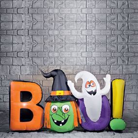 Giant 'BOO' Halloween Inflatable Indoor and Outdoor Display With Lights
