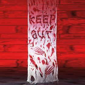 Bloody Cloth Keep Out Halloween Door Cover Decoration