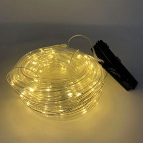 8 Metre Warm White LED Battery Powered Multi Function Rope Light