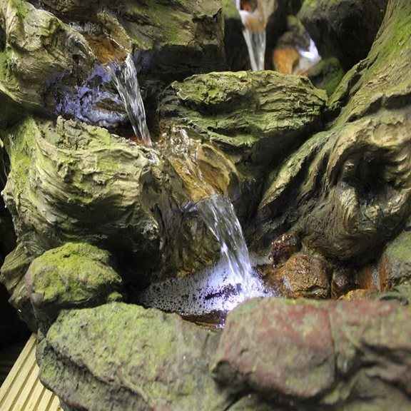 additional image for 5 Fall Open Woodland Falls Water Feature with LED Lights