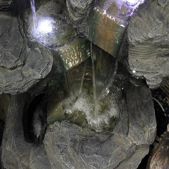 additional image for Large Slate Multi Fall Water Feature with LED Lights