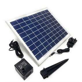 400 LPH Solar Powered Fountain Water Feature Pump with Battery Back Up