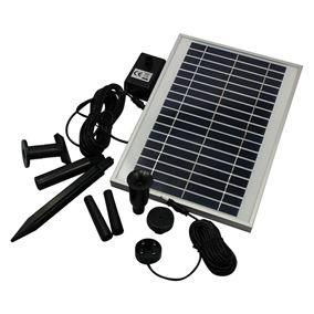 400 LPH Solar Powered Pump with Battery Back Up and LED Light