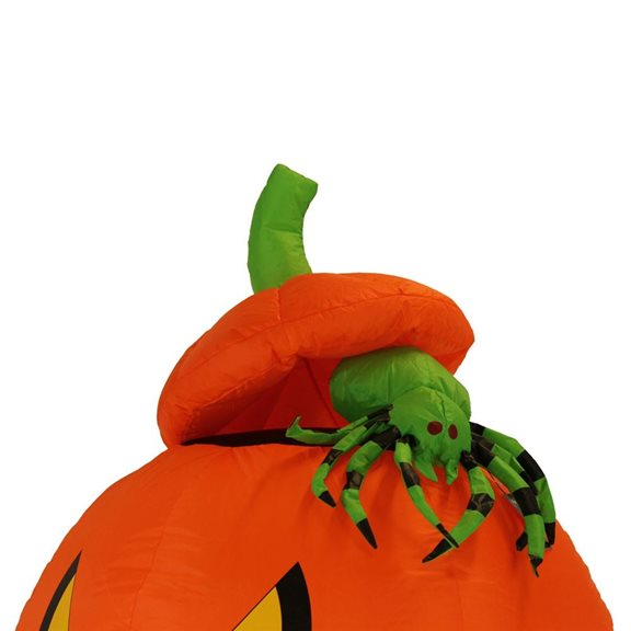 additional image for Spooky Pumpkin and Spider Halloween Inflatable with Lights