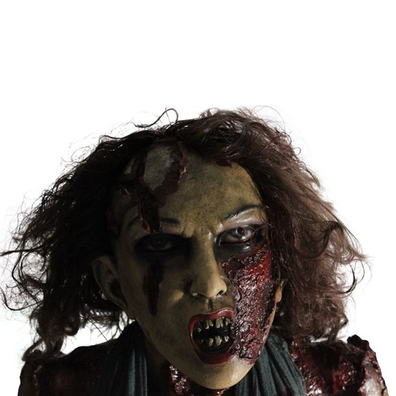 additional image for Gruesome Sitting Ghoul with Scary Red Eyes Halloween Display