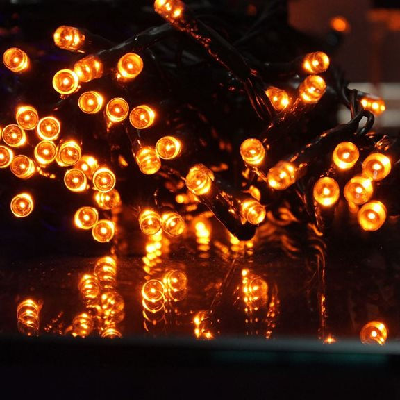additional image for 200 Multi Action LED Supabrights Halloween Lights (Orange)