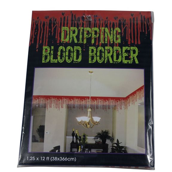 additional image for Dripping Blood Detailed Border Halloween Decoration