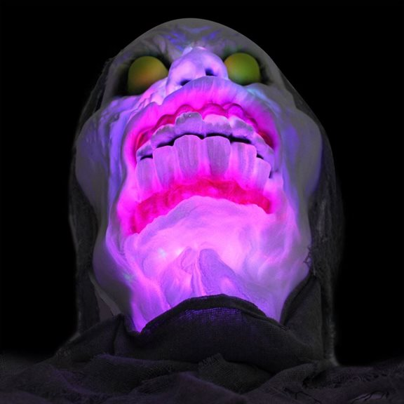 additional image for Super Scary Light up Grey Cloth Head Halloween Display