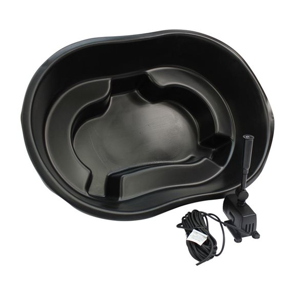 additional image for Ladybower Black Plastic Heavy Duty Garden Pond Kit with 600 LPH Pump