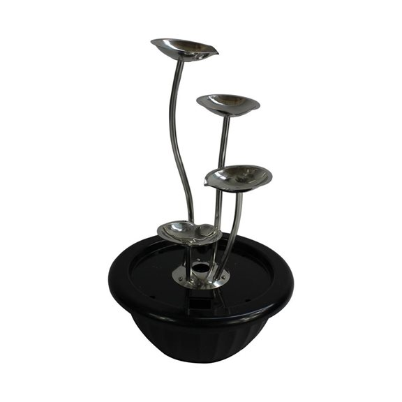 4 Pouring Petals Stainless Steel Water Feature