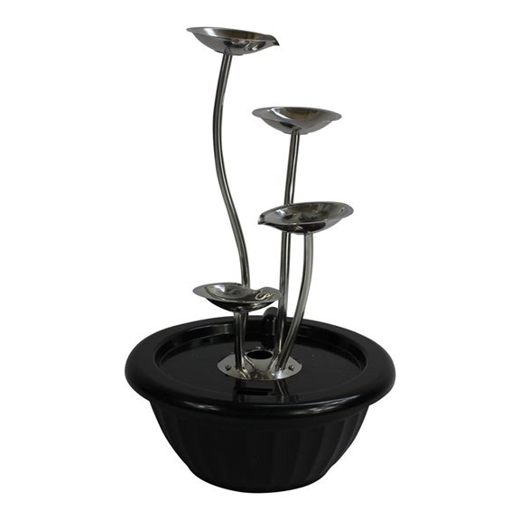 additional image for 4 Pouring Petals Stainless Steel Water Feature
