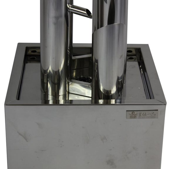 additional image for Tessa Tubed Stainless Steel Water Feature