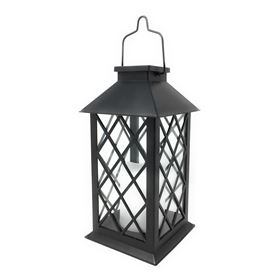Solar Traditional Candle Lantern (Black)