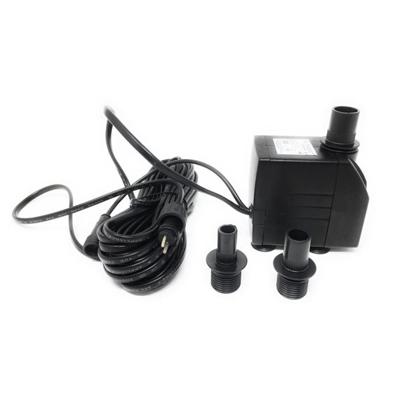 additional image for 1100 LPH Replacement Water Feature Pump with Light Offshoot (Low Voltage)