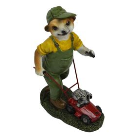 Meerkat Mowing The Lawn Garden Ornament