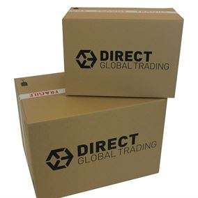 20 Extra Strong Cardboard Storage Packing Boxes with Carry Handles