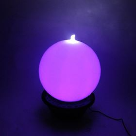 40cm Sphere with Colour Changing LED's Water Feature