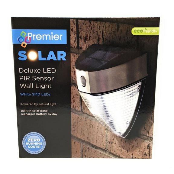 Solar Powered Deluxe Ultra Bright Led Pir Sensor Wall