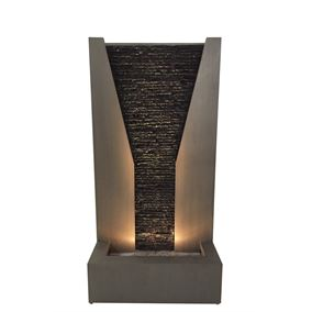 Imperia Zinc Metal Water Feature