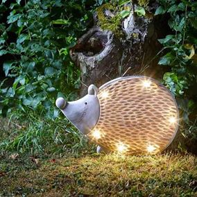 Woodstone Inlight Hedgehog Solar Powered Garden Light