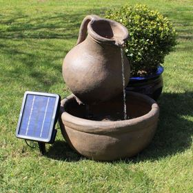 Jug & Bowl Solar Powered Garden Water Feature