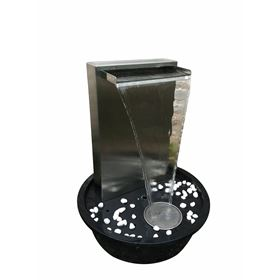 Karachi Stainless Steel Blade Style LED Lit Water Feature