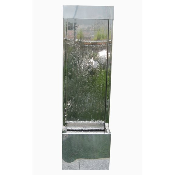 Kiev Stainless Steel Wall Cascade Water Feature with LED Lights